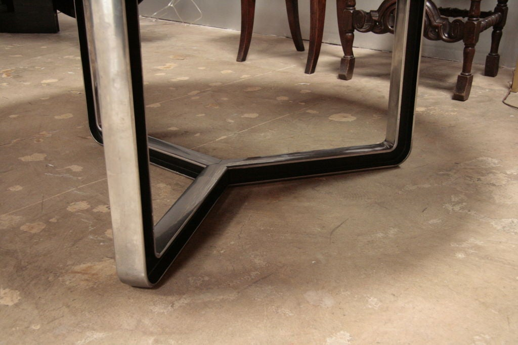 Black Lacquered Tecno Oversized Table 7