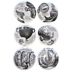 Set Of 6 Piero Fornasetti Plates