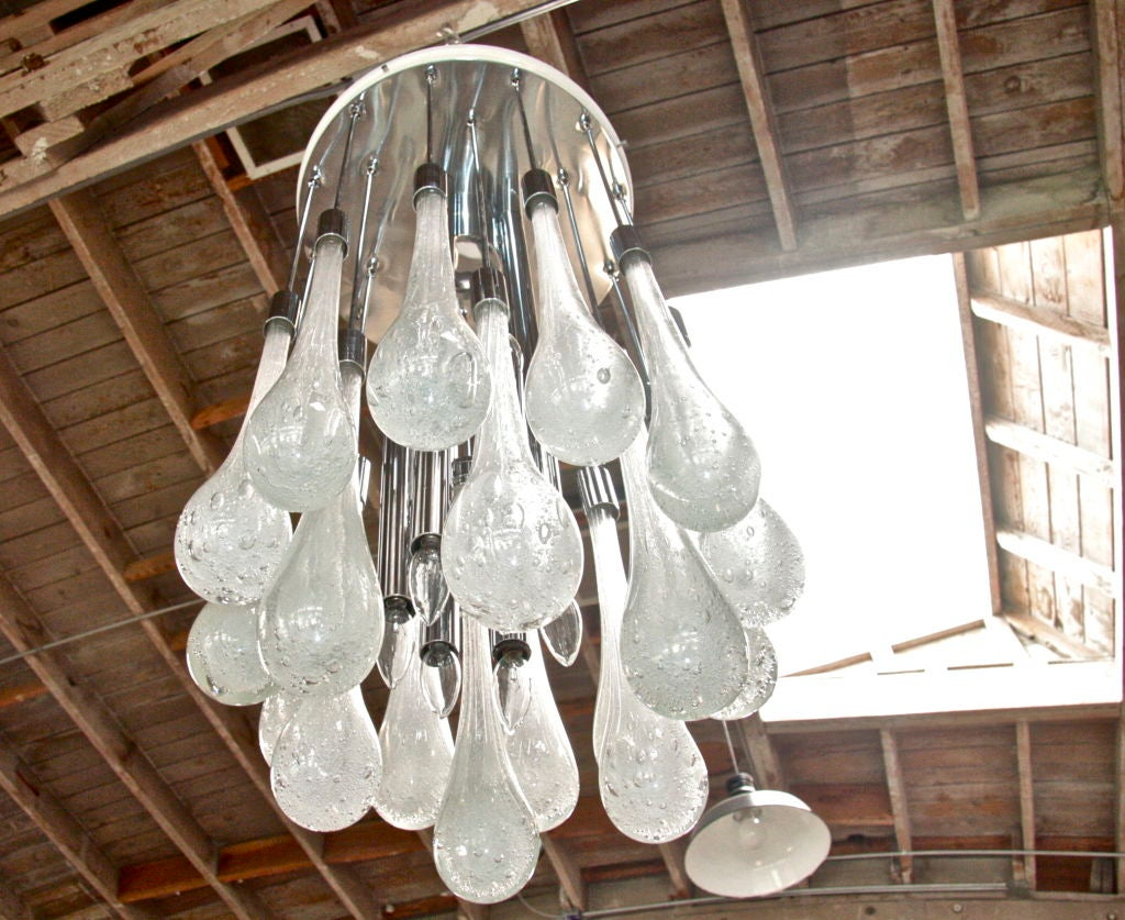 Mid-20th Century Italian Murano Chandelier For Sale