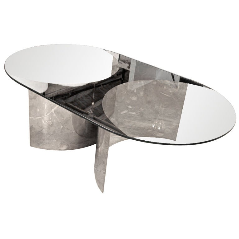 Italian Mirror and Steel Table 1