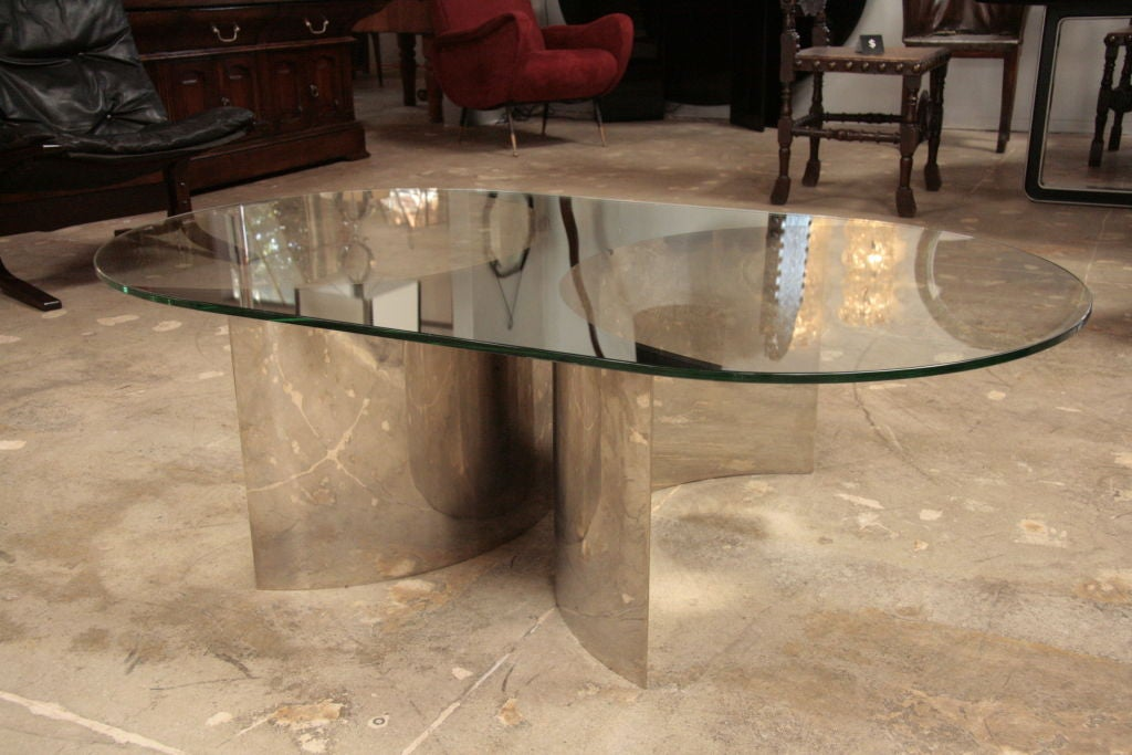Italian Mirror and Steel Table 2