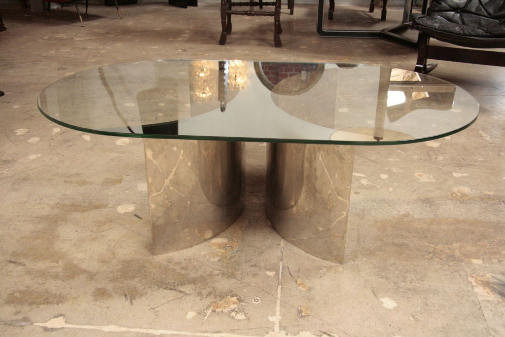 Italian Mirror and Steel Table 3