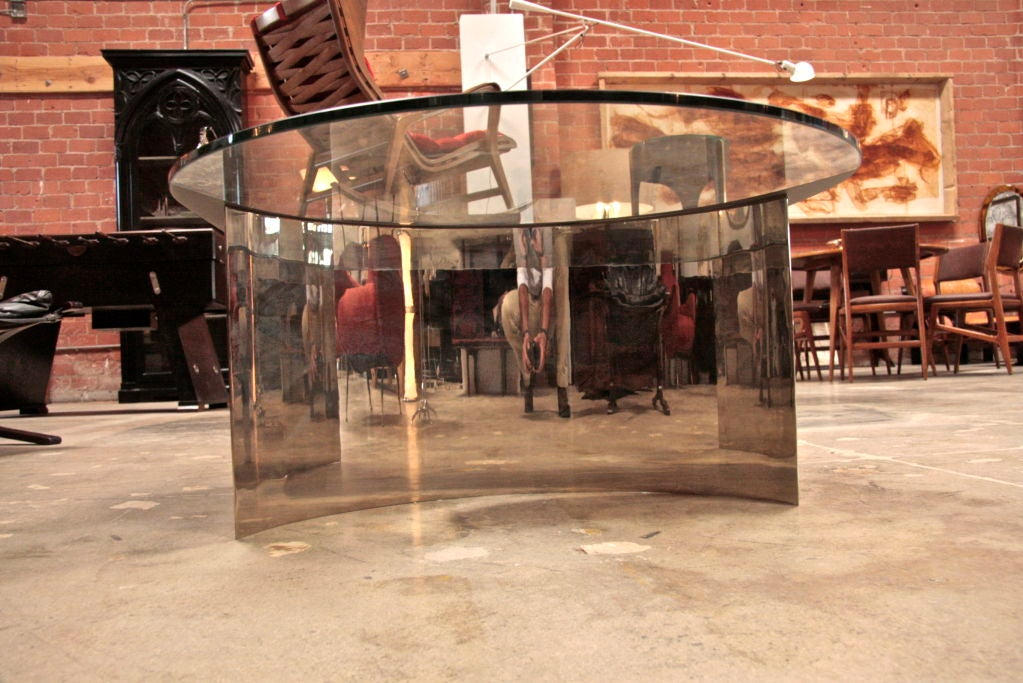 Italian Mirror and Steel Table 6