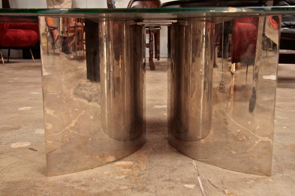 Italian Mirror and Steel Table 7