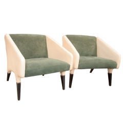Italian Gio Ponti 1960's Lounge Chairs
