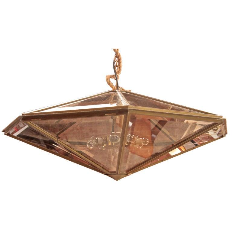 Italian Cut Glass, Jewel-Like, Oversized Chandeliers