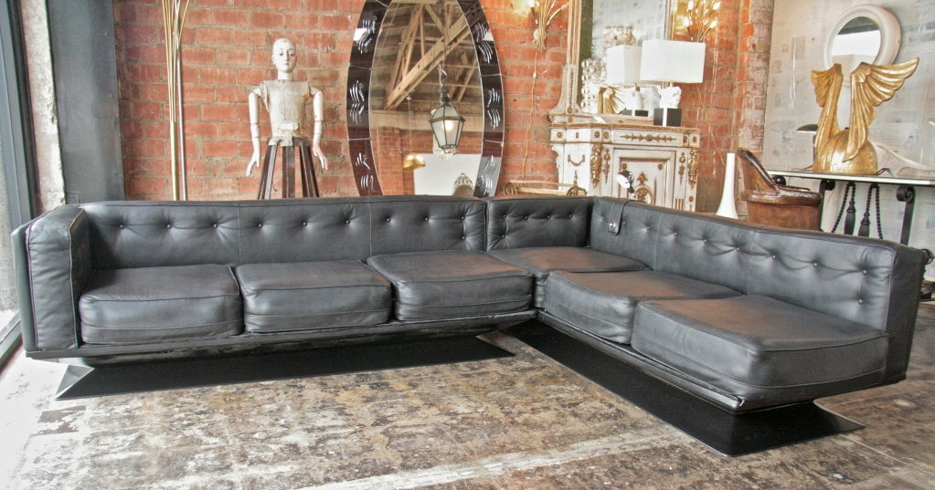 "Pair Of Italian Leather Sofas ""Vignola"" By Pellegrini At 1stdibs"