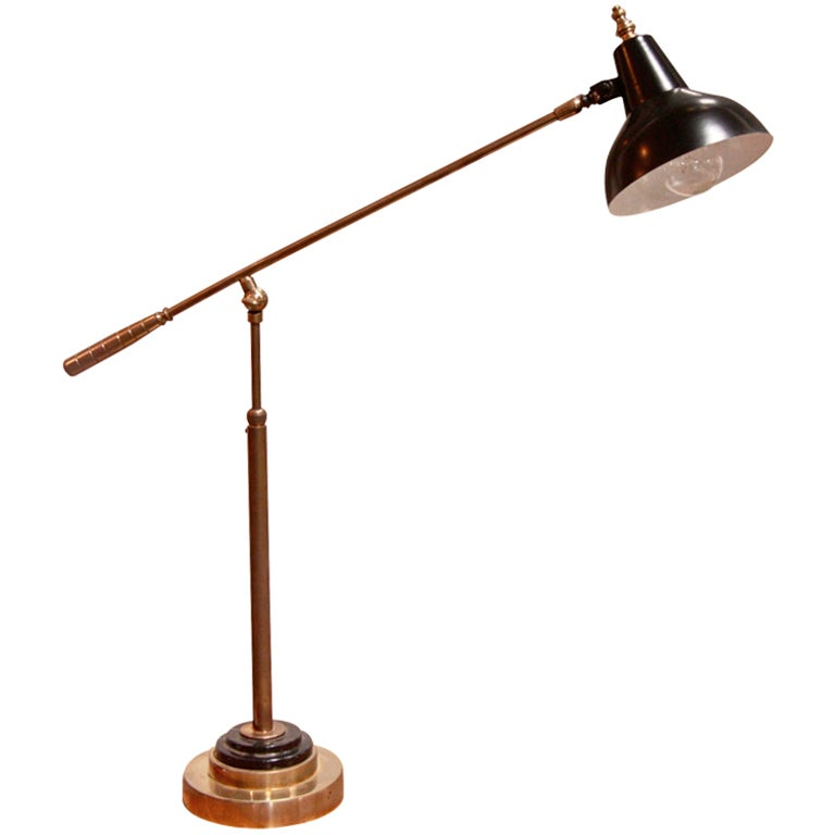 italian black lacquered table lamp w brass and marble base at 1stdibs. Black Bedroom Furniture Sets. Home Design Ideas