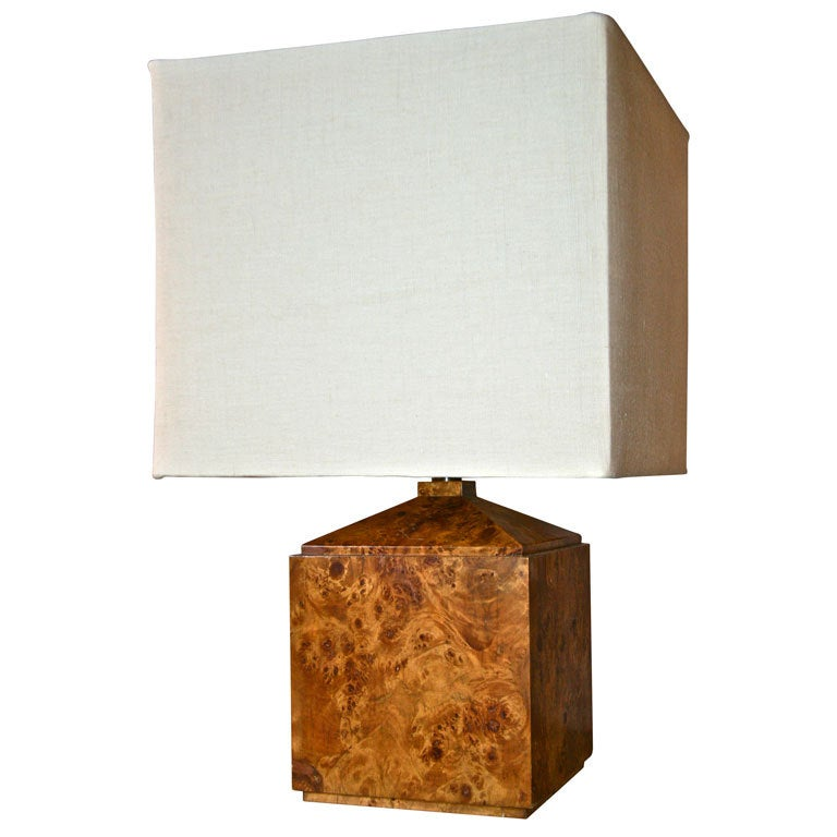 Italian 50 39 S Wood Veneer Table Lamp For Sale At 1stdibs