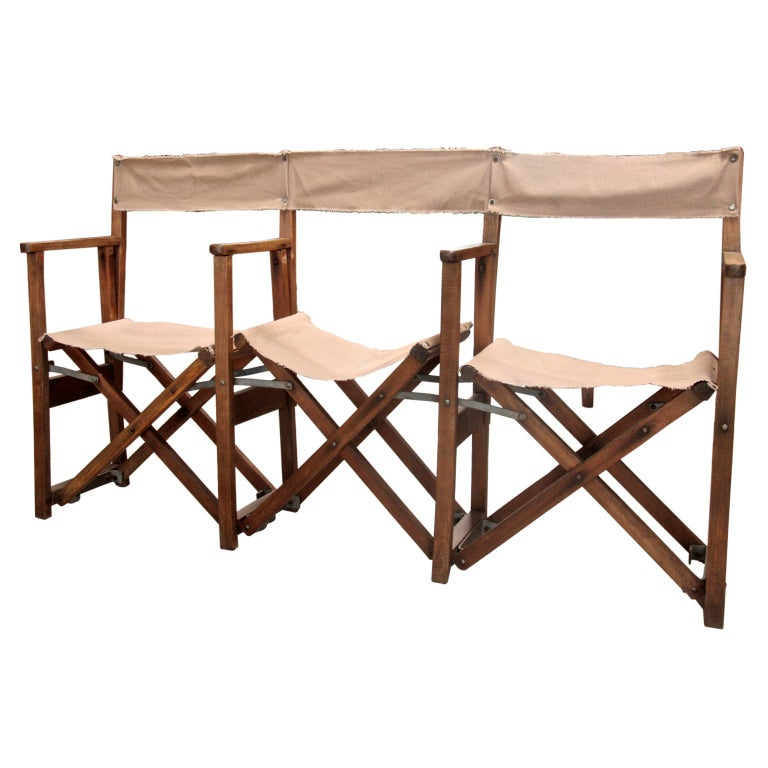 Italian Campaign Chair Triple Bench At 1stdibs