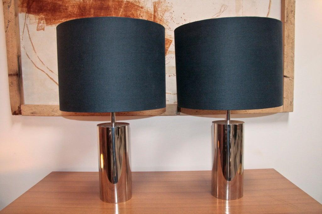 Italian Reggiani Steel Cylinder Light At 1stdibs