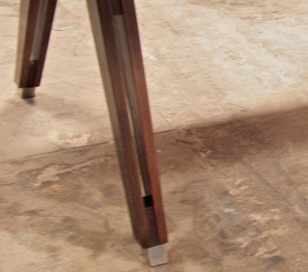 Walnut Ico Parisi Writing Table by MIM For Sale