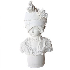 English Bust:  Lady with Locomotive Hat