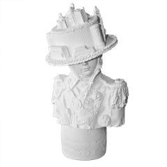Contemporary English Bust - Lady with London City Bonnet