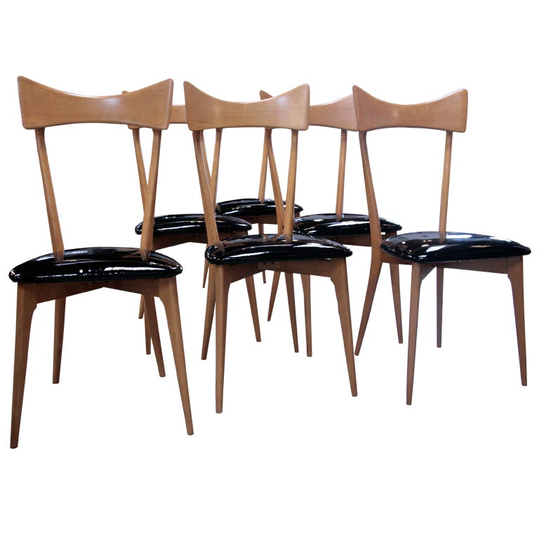 italian 40 39 s set of 6 ico parisi dining chairs is no longer available