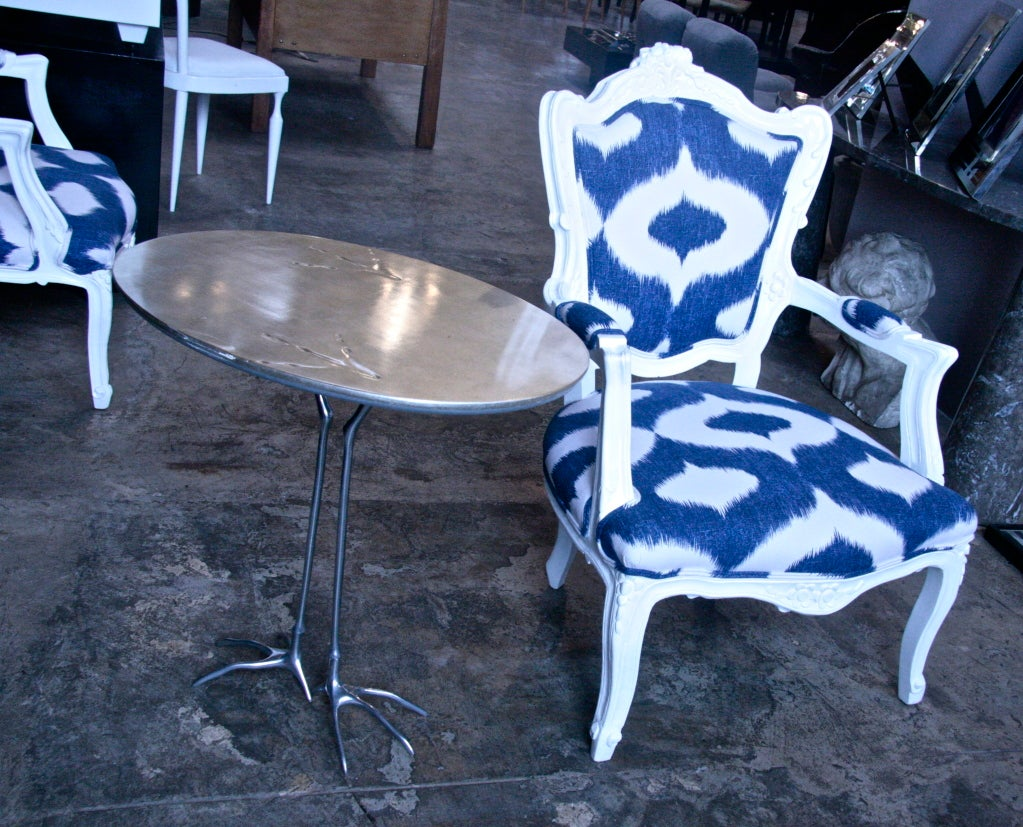 Italian White Lacquered Armchairs For Sale 4