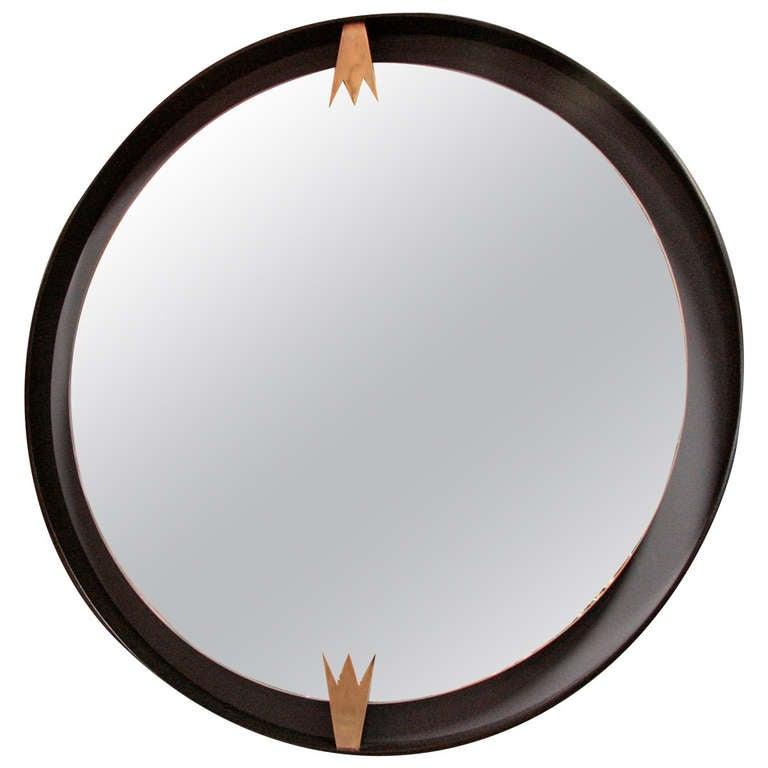 Iron and Brass Moderne Mirror