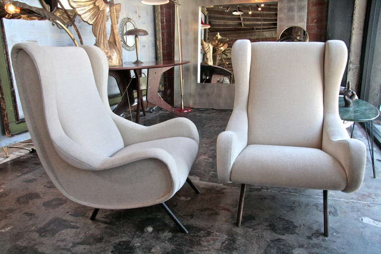 Marco Zanuso Quot Senior Quot Lounge Chairs At 1stdibs