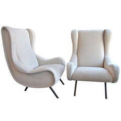 "Marco Zanuso ""Senior"" Lounge Chairs"