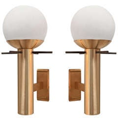 Pair of Italian 1960 Sconces By Stilux