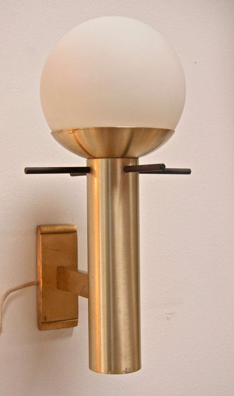 Pair of Italian 1960 Sconces By Stilux 3