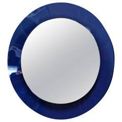 Italian 1960s Cobalt Blue Mirror
