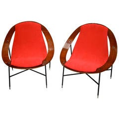 Rare Ico Parisi Lounge Chairs