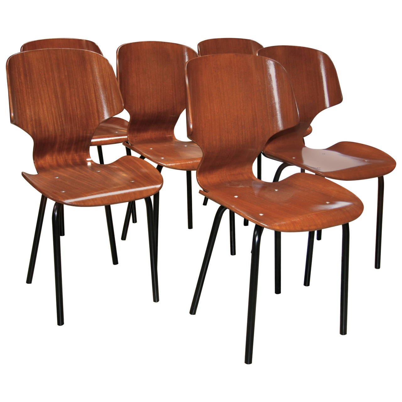 Set of Six Chairs by Carlo Ratti, 1955