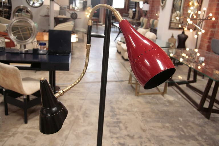 Italian 1950 Arteluce Floor Lamp W/ Marble Base For Sale 1
