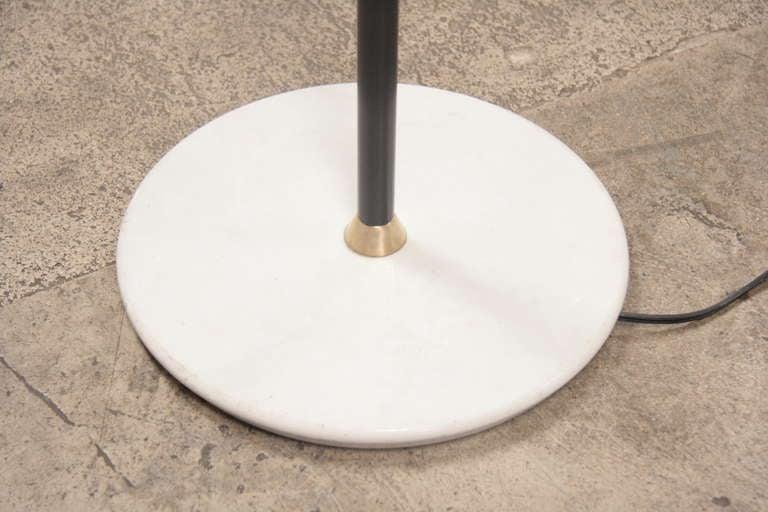 italian 1950 arteluce floor lamp w marble base at 1stdibs. Black Bedroom Furniture Sets. Home Design Ideas