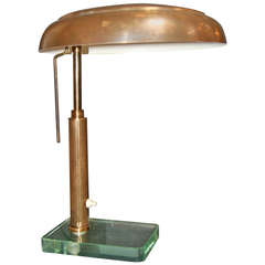 Italian Brass 1950's Table Lamp