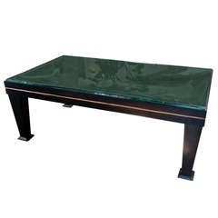 80s Wood & Glass Top Table