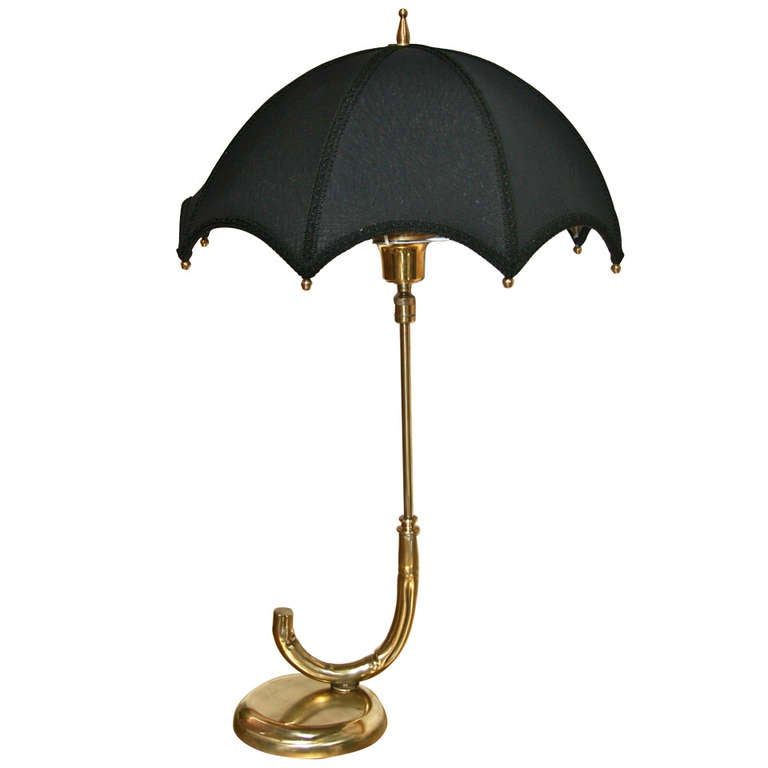 Umbrella Table Lamp Italian 60's at 1stdibs