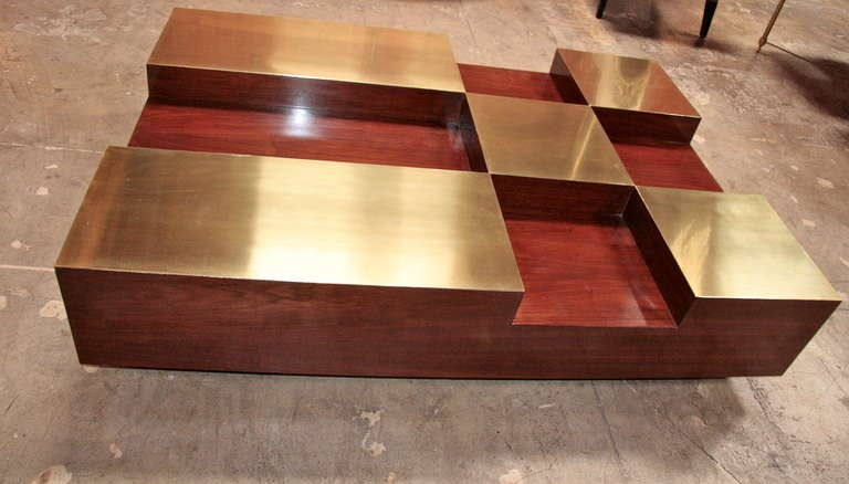 Brass Italian Coffee Table For Sale