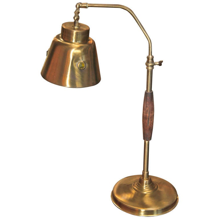 Italian 50 39 s brass table lamp at 1stdibs for Table lamps under 50