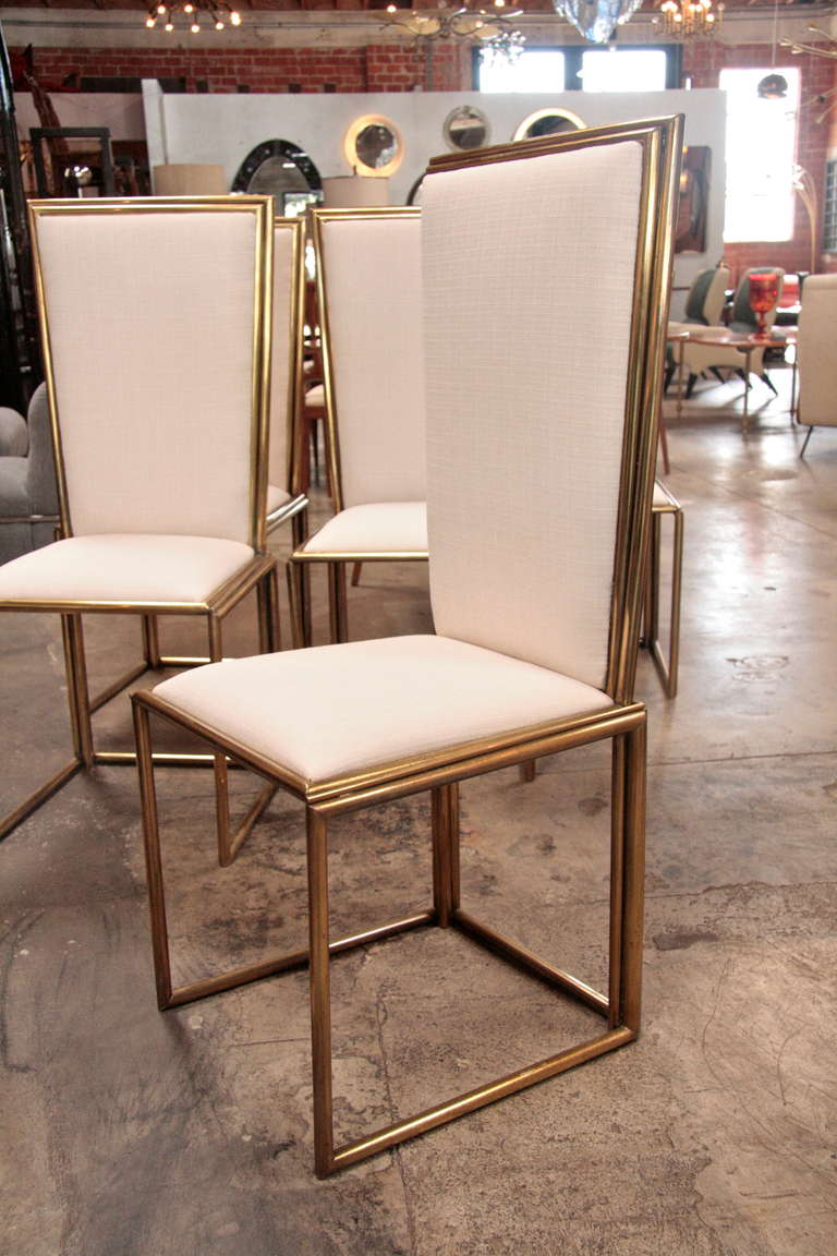 Mid-20th Century Italian Chairs In Brass 1960 For Sale