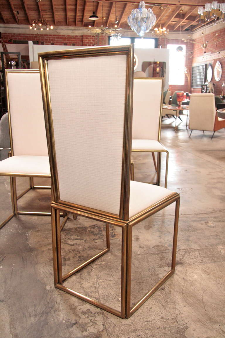 Italian Chairs In Brass 1960 For Sale 2