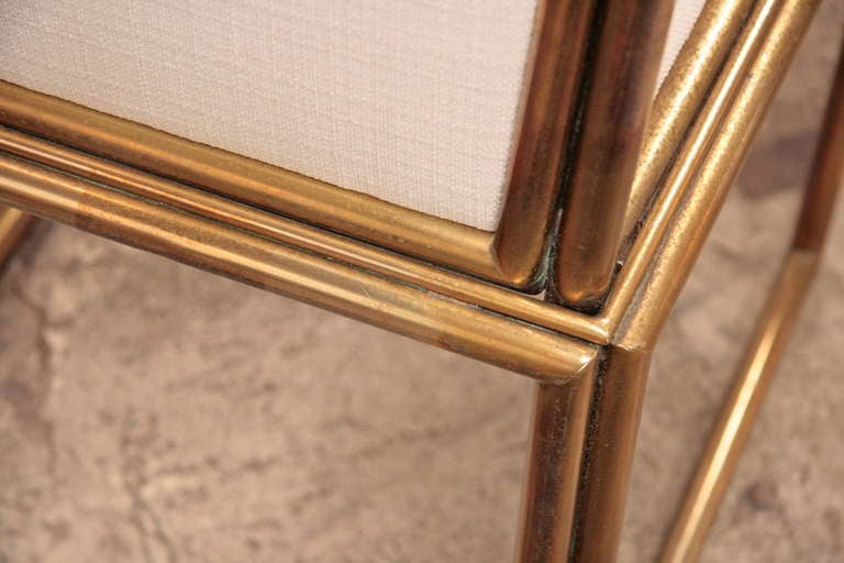 Italian Chairs In Brass 1960 For Sale 3
