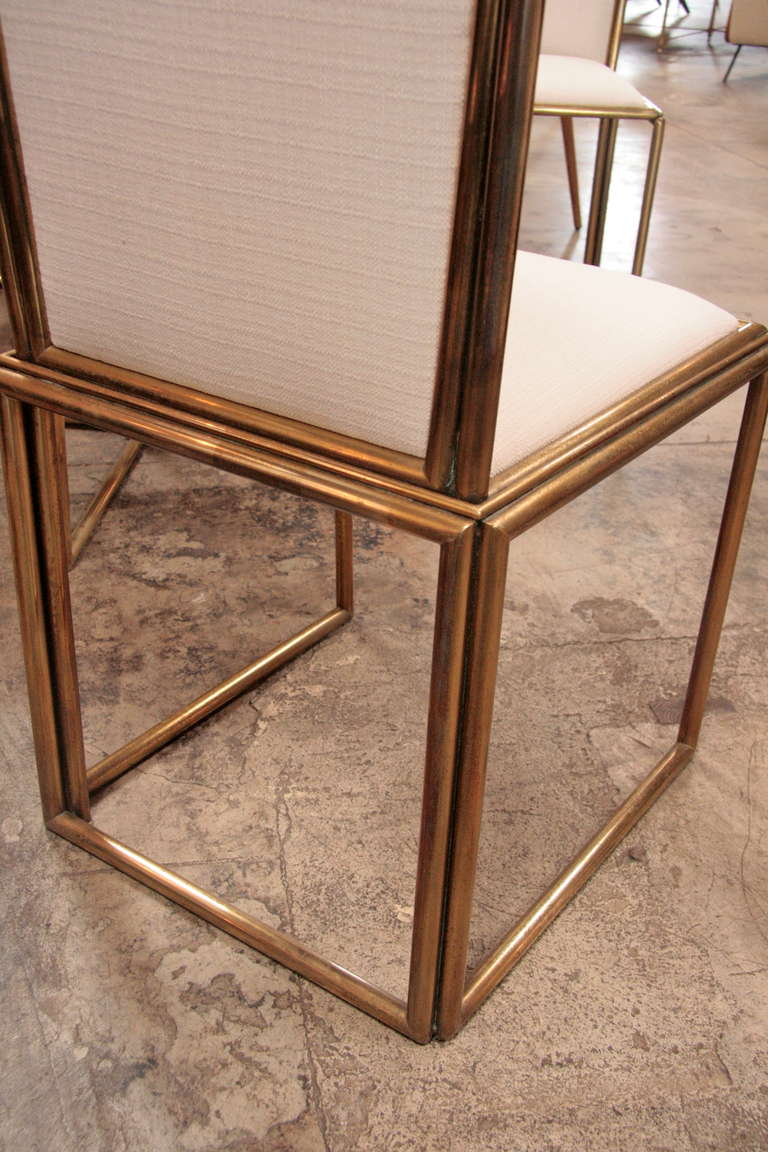 Italian Chairs In Brass 1960 For Sale 4