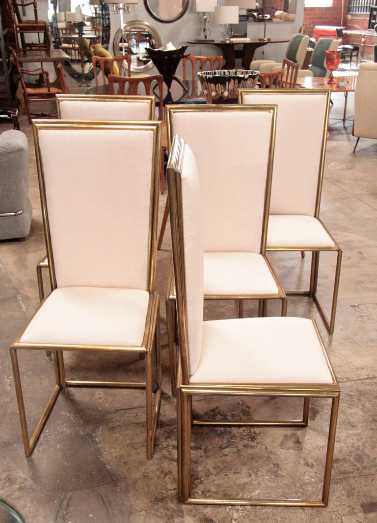 Italian Chairs In Brass 1960 For Sale 5
