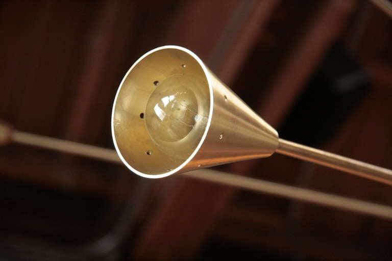 Brass Sputnik Chandelier with Twenty Arms For Sale 2