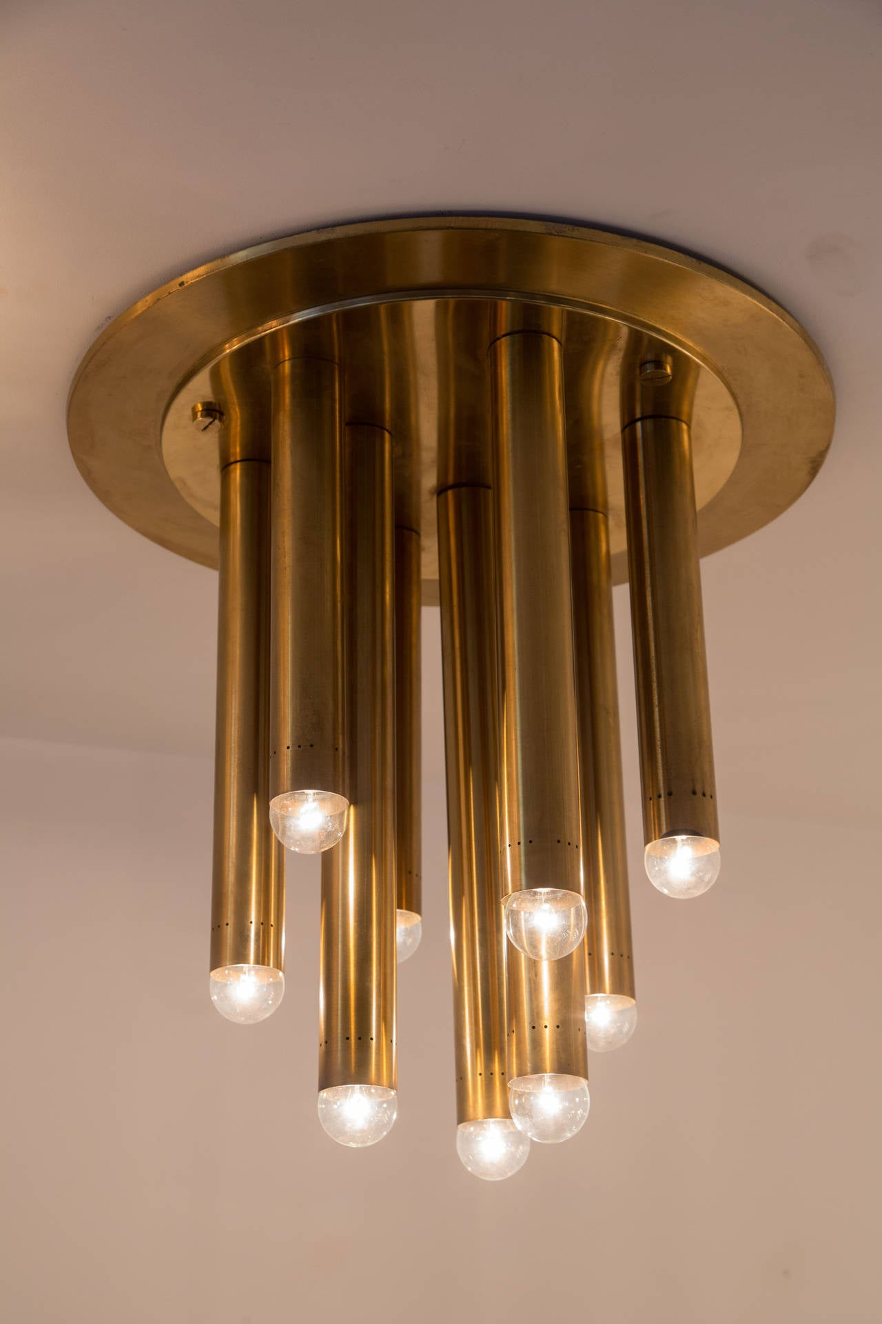 Pair of Brass Italian Ceiling Lights 3