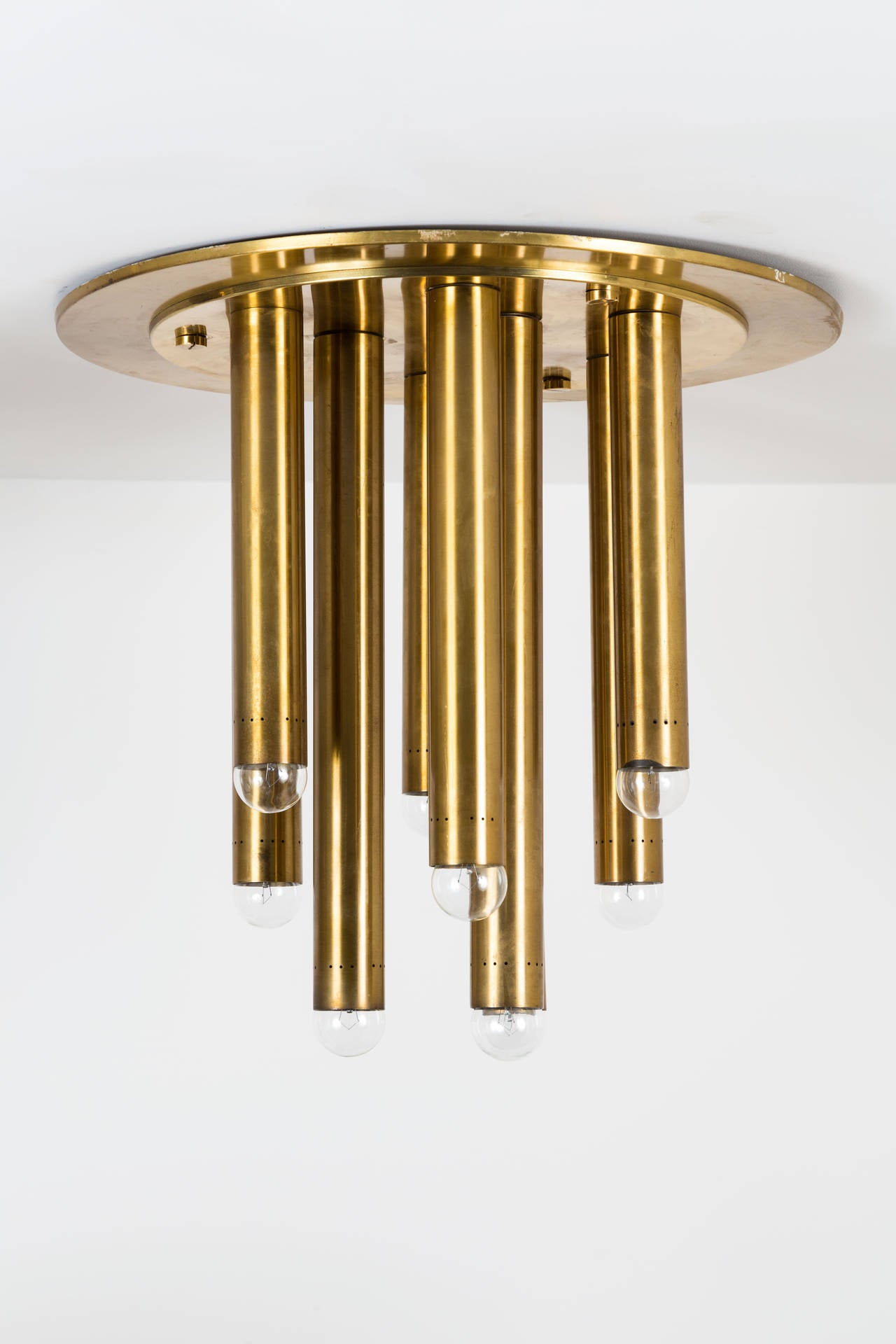 Pair of Brass Italian Ceiling Lights 4