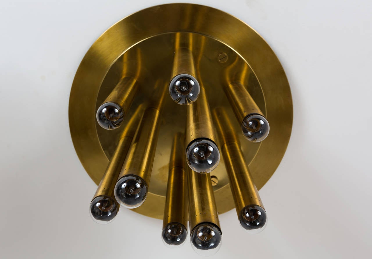 Pair of Brass Italian Ceiling Lights 7