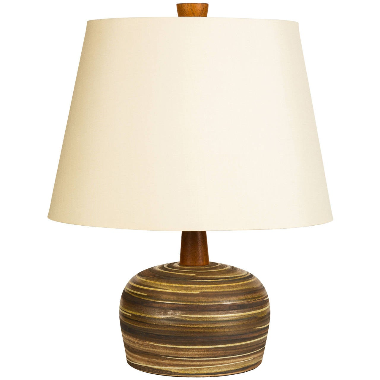 Martz ceramic table lamp at 1stdibs for Ceramic table lamps
