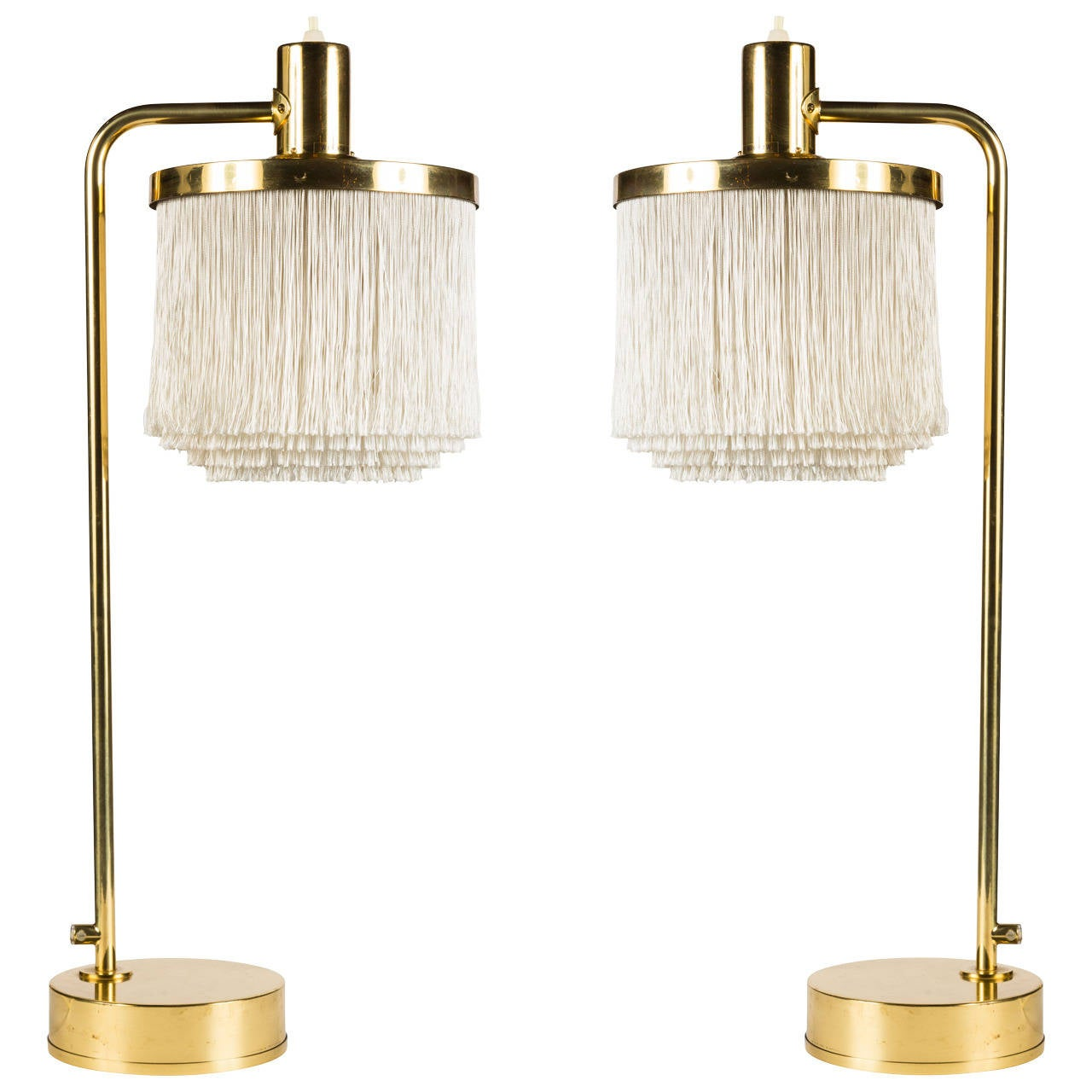 Hans Agne Jakobsson Brass And Silk Cord Table Lamps At 1stdibs