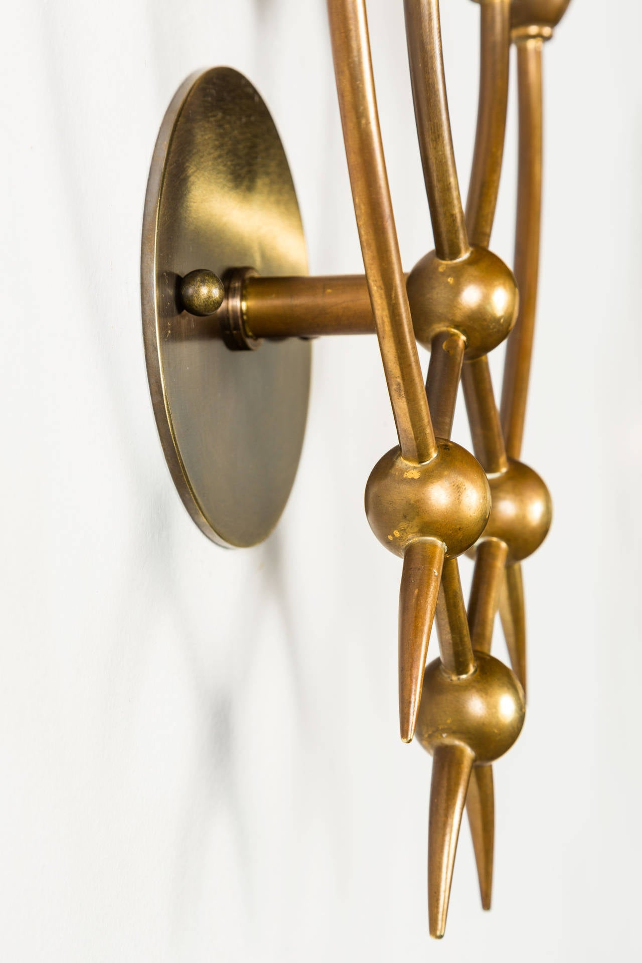 Italian Pair of Sconces by Guglielmo Ulrich For Sale