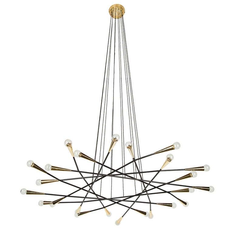 rewire custom multi arm flat chandelier at 1stdibs