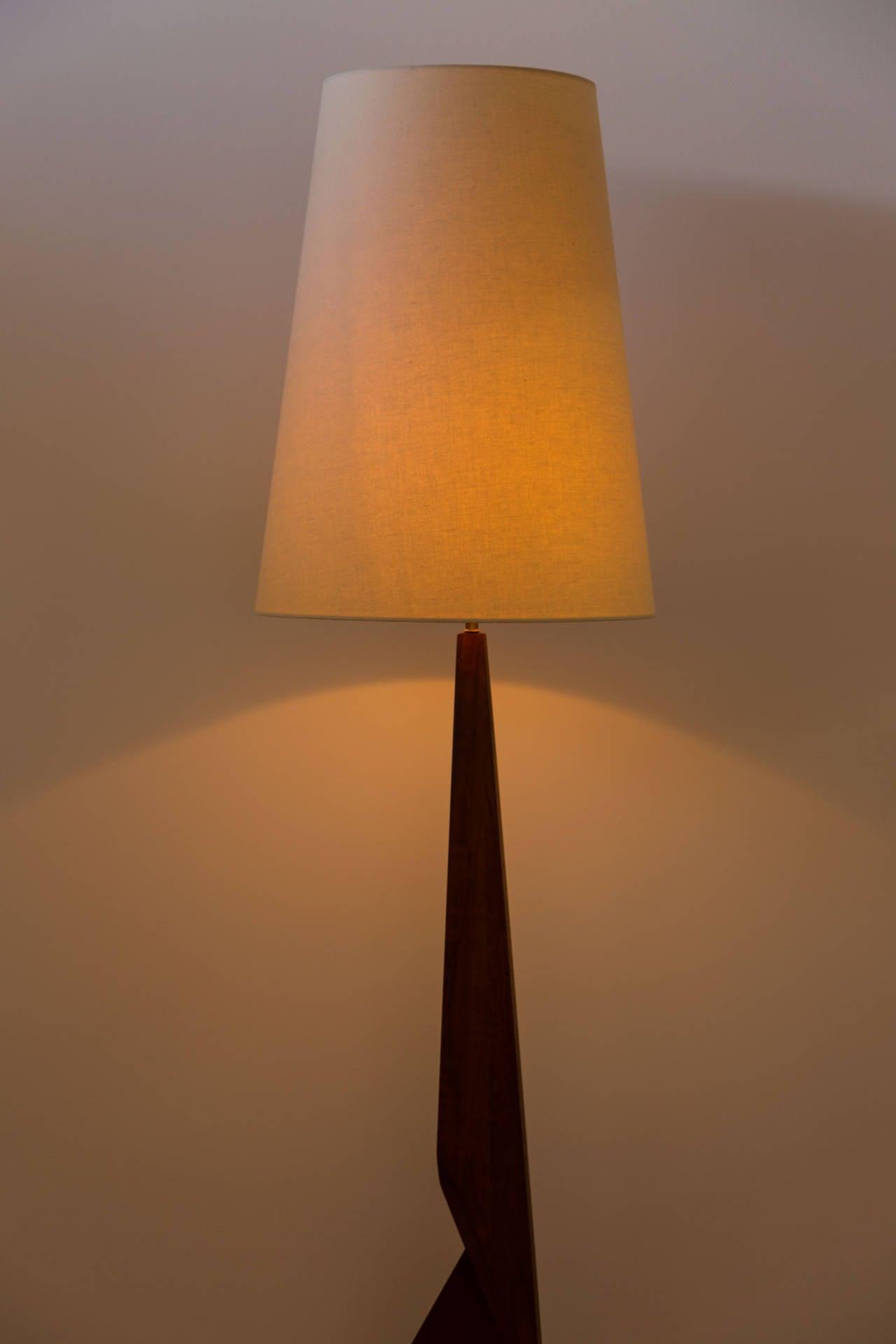 Sculptural Danish Floor Lamp At 1stdibs