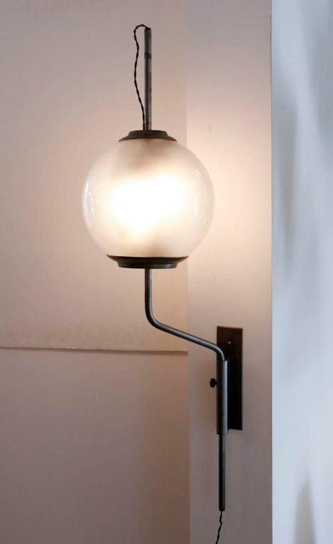 Pallone Wall Lamp by Luigi Caccia Dominioni for Azucena For Sale 2